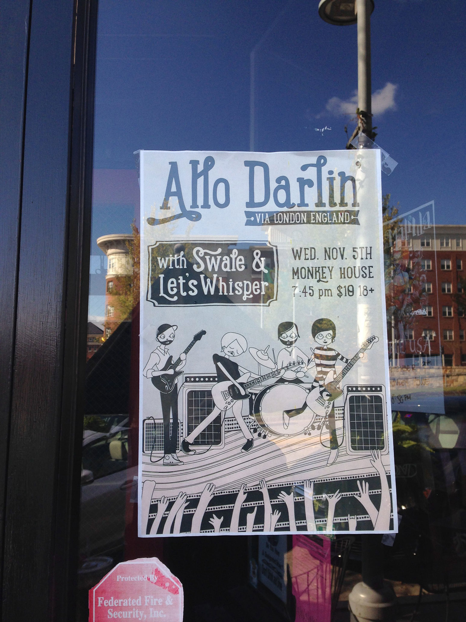 Allo Darlin Poster in the Wild