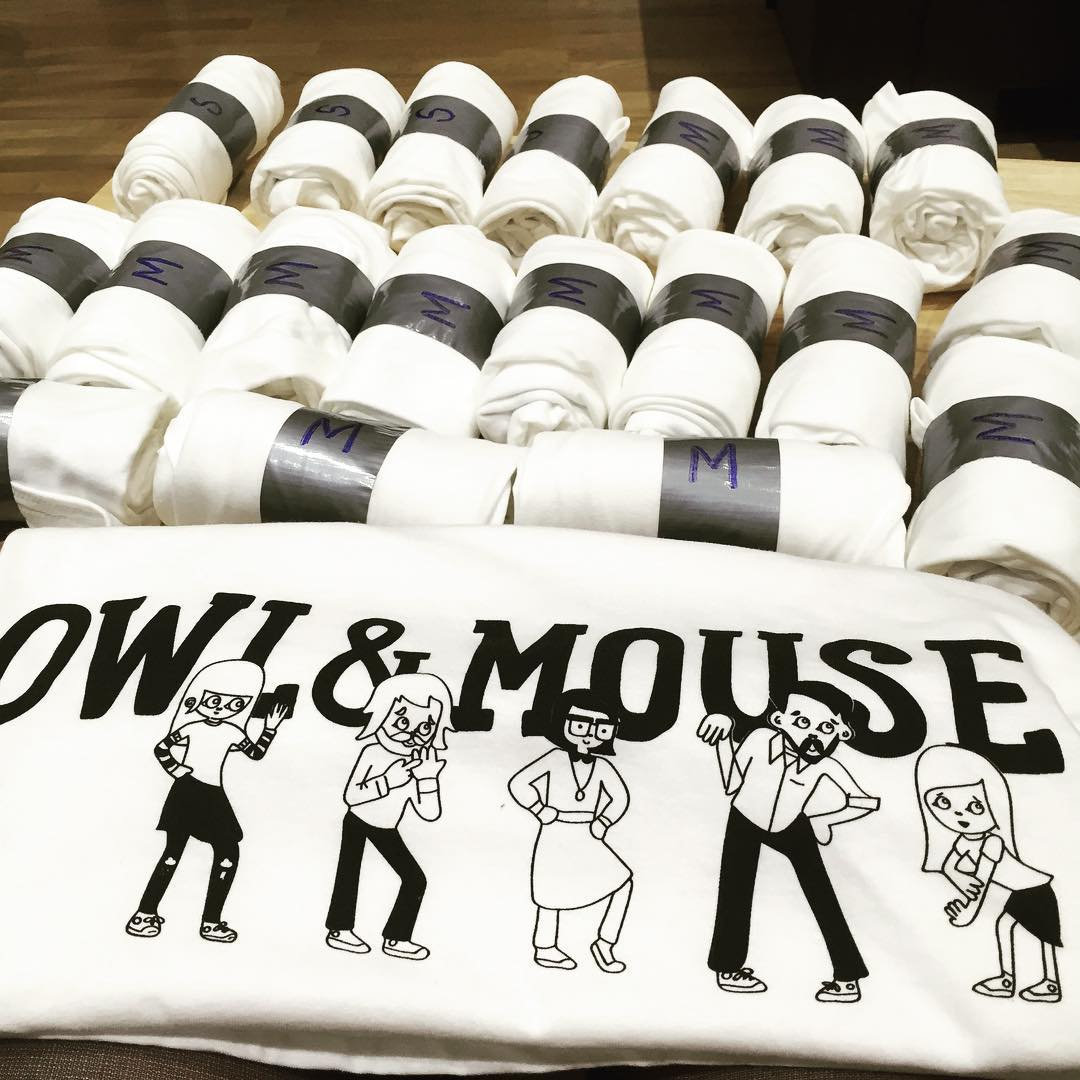 Owl and Mouse Tees