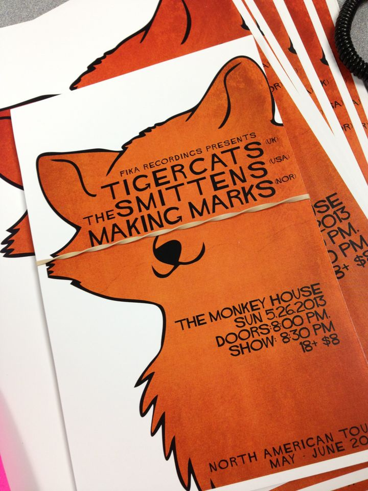 Smittens, Tigercats, Making Marks Summer Tour Flyer