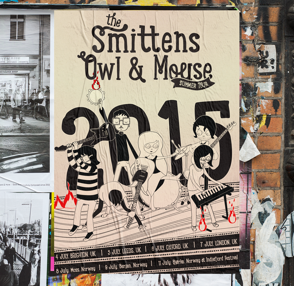 Smittens Owl and Mouse Summer Tour Flyer in the Wild